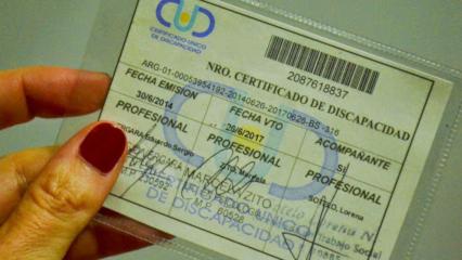 Certificado de Discapacidad Argentina